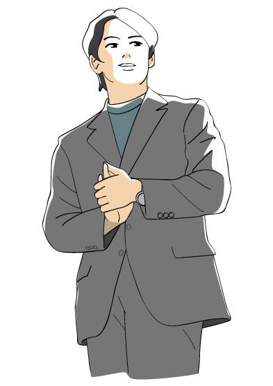 先生風の男性 先生風の男性 © 2014-2014 Drawing  先生風の男性│無料クリップ