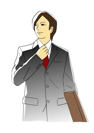 スーツ姿の若手ビジネスマン