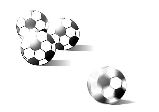 レトロなサッカーボール