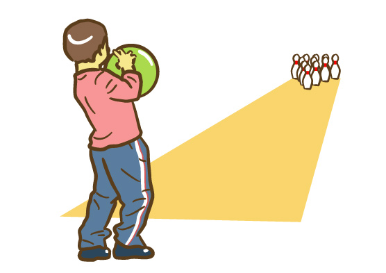 ボウリングをする子ども